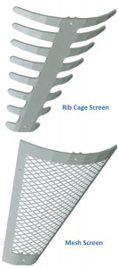 Rib and Mesh Screens