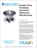 Powder Flow Problem Solved for Adhesive Manufacturer - Promo-Flow