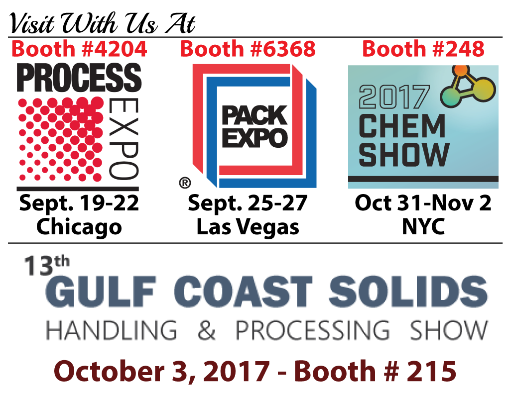 Process Expo, Pack Expo, Chem Show and Gulf Coast Solids Expo Logos