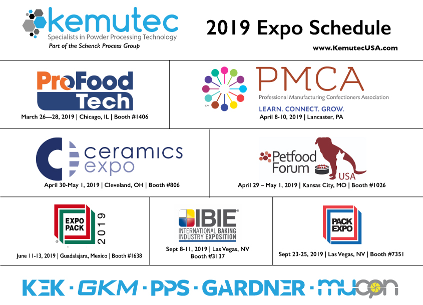 Kemutec 2019 Exhibition Schedule