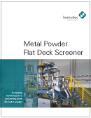 Kemutec - GKM - Metal Powder Flat Deck Screeners