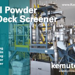 Kemutec Metal Powder Flat Deck Screener by GKM
