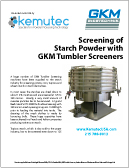 GKM Flat Deck Screeners - Starch Whitepaper - Kemutec