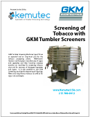 GKM Tobacco Screening White Paper - Kemutec