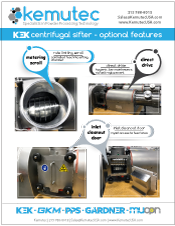 Kek Centrifugal Sifter Optional Features