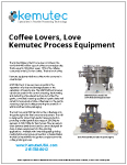 Coffee Lovers Love Kemutec Process Equipment