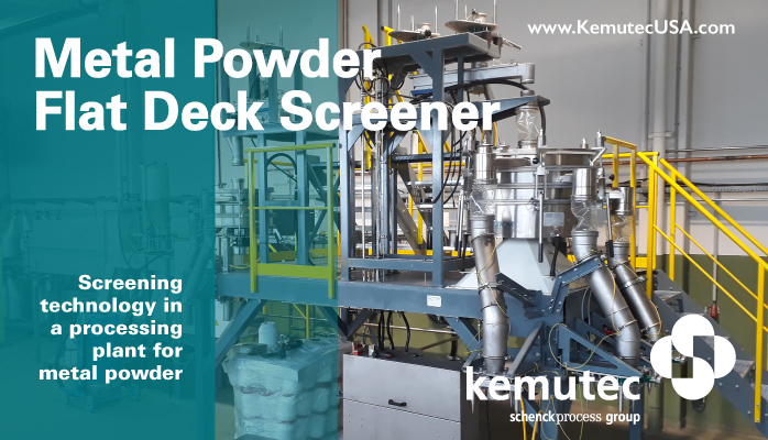Kemutec Metal Powder Flat Deck Screener by GKM